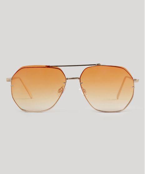 Oculos-de-Sol-Redondo-Feminino-Oneself-Dourado-9056691-Dourado_1