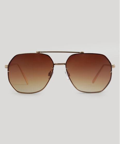 Oculos-de-Sol-Redondo-Feminino-Oneself-Dourado-9056688-Dourado_1