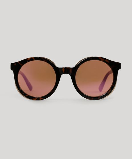 Oculos-de-Sol-Redondo-Feminino-Oneself-Tartaruga-9056706-Tartaruga_1