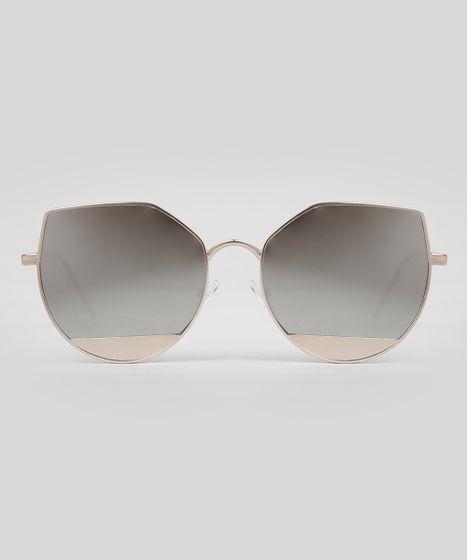 2e0ce097b Oculos-de-Sol-Gatinho-Feminino-Oneself-Dourado-9056646- ...