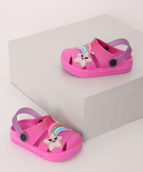 Babuche-Infantil-Luelua-Estrela-Cadente-Pink-9974377-Pink_1