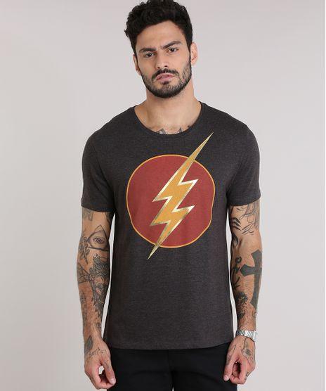Camiseta-The-Flash-Cinza-Mescla-Escuro-8944292-Cinza_Mescla_Escuro_1