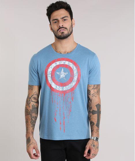 28c6e92f5c Camiseta-Capitao-America-Azul-8944285-Azul 1 ...