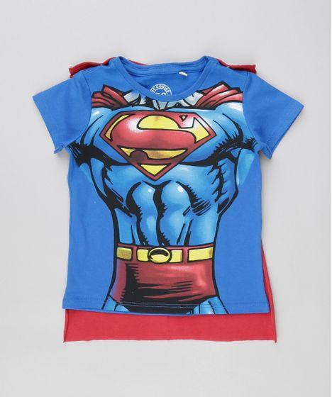 6f041c3039 Camiseta-Super-Homem-com-Capa-em-Algodao--- ...