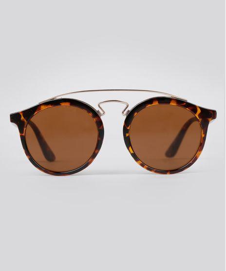 Oculos-de-Sol-Redondo-Feminino-Oneself-Tartaruga-9056751-Tartaruga_1