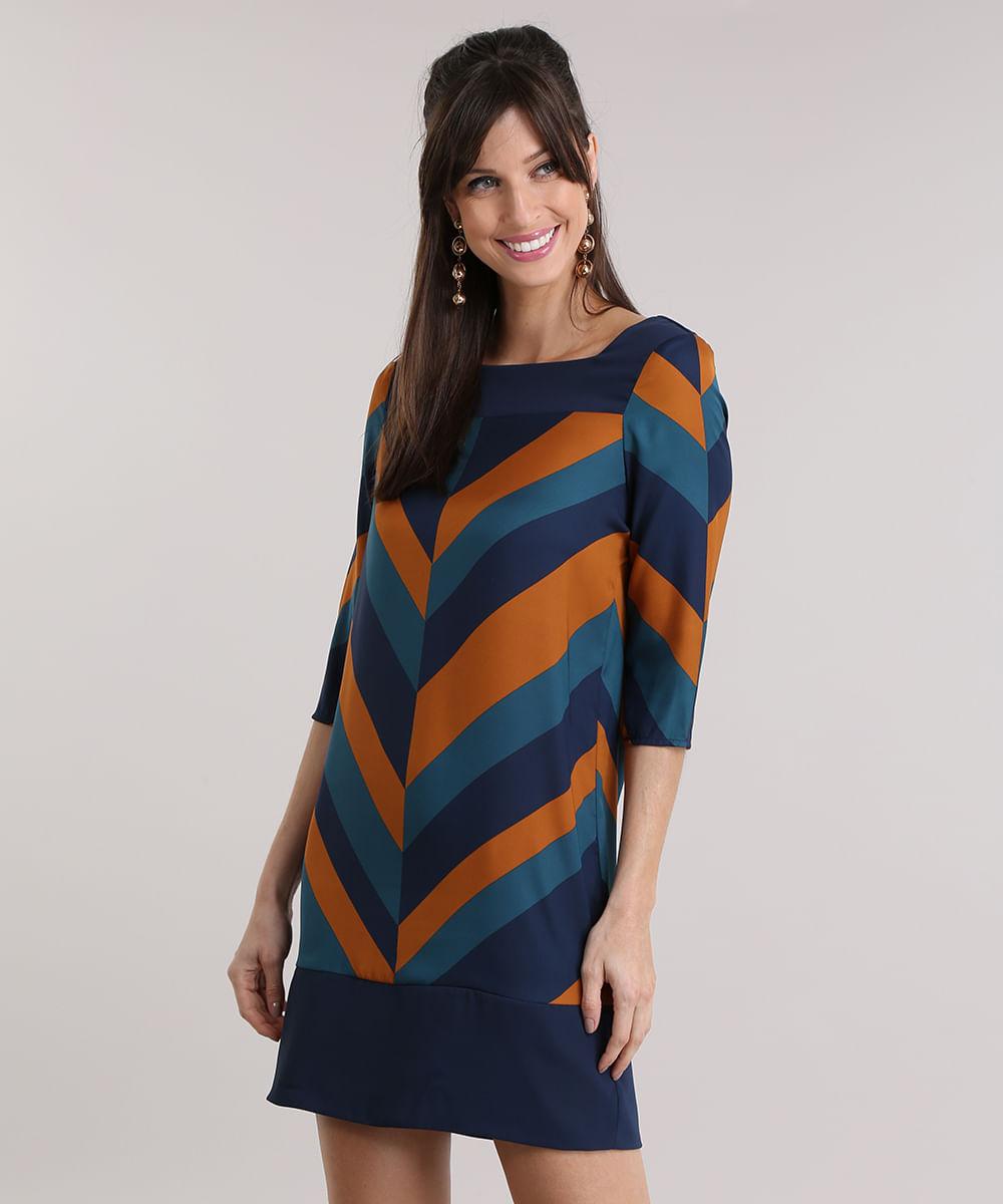 4105bac6d32 ... Vestido-Estampado-Geometrico-Azul-Marinho-8883097-Azul_Marinho_1