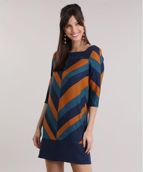 23bd0d2218a Vestido-Estampado-Geometrico-Azul-Marinho-8883097-Azul_Marinho_1 ...