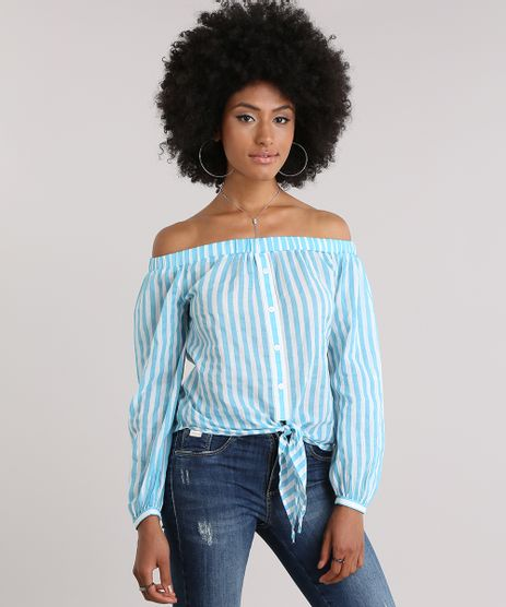 Blusa-Ombro-a-Ombro-Listrada-com-No-Azul-Claro-8724741-Azul_Claro_1