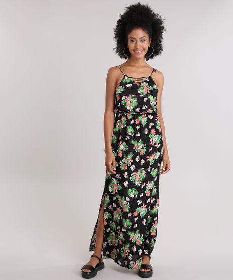 Vestido-Longo-Estampado-Floral-com-Fendas-Preto-8959295-Preto_1