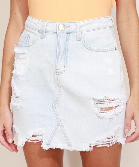 Saia-Jeans-Feminina-Curta-Reta-Destroyed-com-Bandana-Estampada-Tie-Dye-Azul-Claro-9968077-Azul_Claro_1