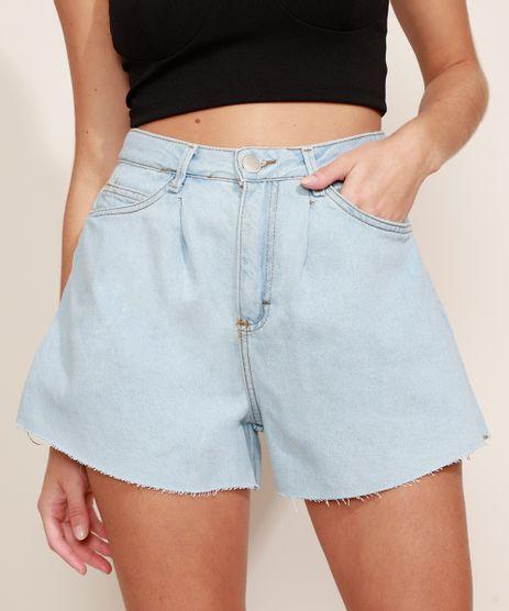 Short-Jeans-Feminino-Gode-Cintura-Super-Alta-com-Barra-a-Fio-Azul-Claro-9971541-Azul_Claro_1