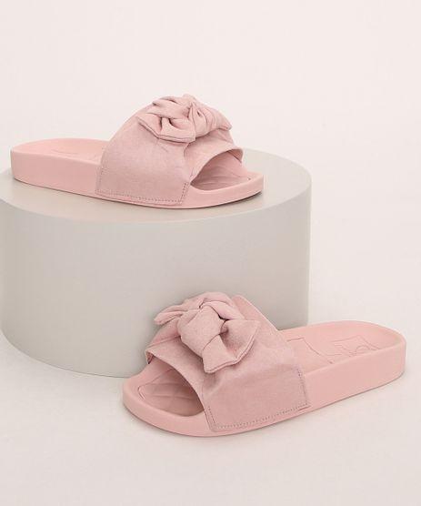 Chinelo-Slide-Infantil-Molekinha-em-Suede-com-Laco-Rosa-Claro-9975226-Rosa_Claro_1