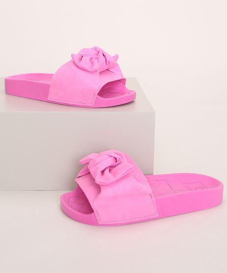 Chinelo-Slide-Infantil-Molekinha-em-Suede-com-Laco-Rosa-9975231-Rosa_1