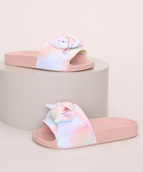 Chinelo-Slide-Infantil-Molekinha-Estampado-Tie-Dye-com-Laco-Rosa-Claro-9975227-Rosa_Claro_1