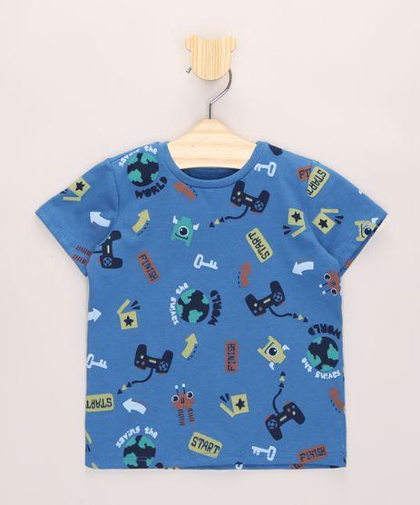 Camiseta-Infantil-Estampada-Video-Game-Manga-Curta-Azul-9963804-Azul_1