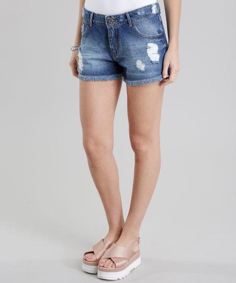 Short-Jeans-Relaxed-Destroyed-Azul-Medio-8784561-Azul_Medio_1