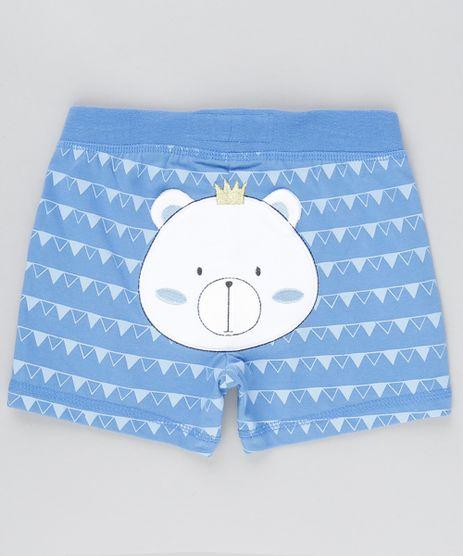 Short-Ursinho-Estampado-Geometrico-em-Algodao---Sustentavel-Azul-8801462-Azul_1