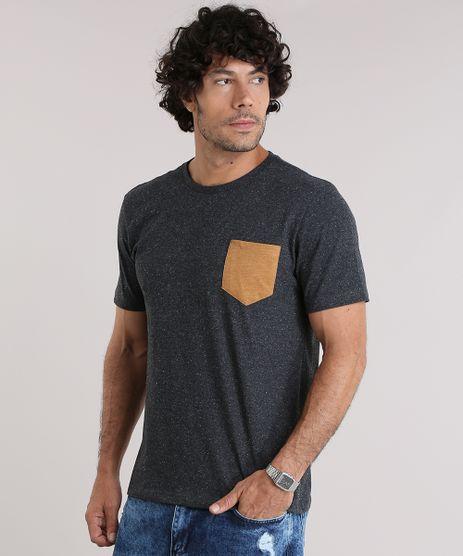 Camiseta-com-Bolso-Contrastante-Cinza-Mescla-Escuro-9047850-Cinza_Mescla_Escuro_1
