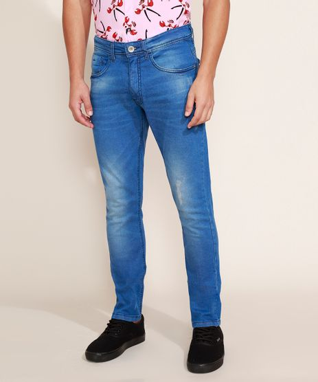 Calca-Jeans-Masculina-Slim-com-Puidos-Jeans-Medio-9964149-Jeans_Medio_1