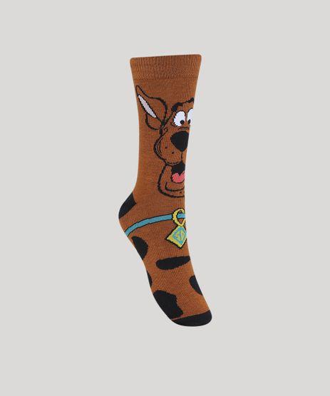 Meia-Masculina-Cano-Alto-Divertida-Scooby-Doo-Marrom-9970159-Marrom_1