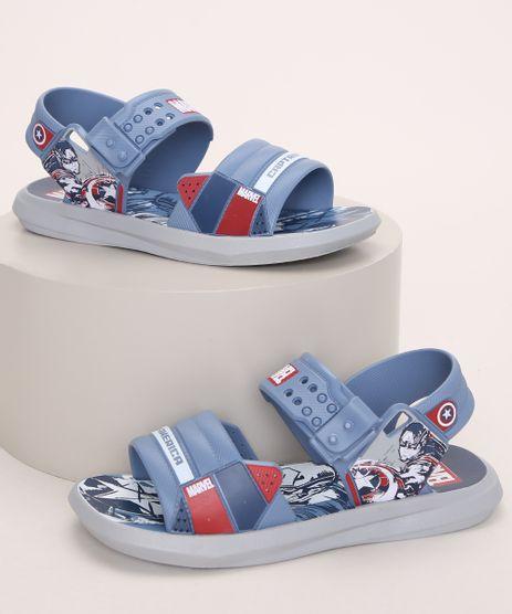 Papete-Infantil-Grendene-Capitao-America-Marvel-Azul-9974185-Azul_1