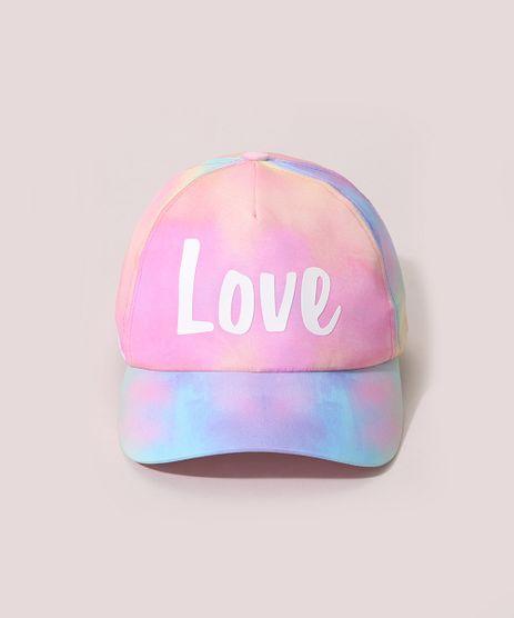 Bone-Infantil-Aba-Curva-Estampado-Tie-Dye--Love--Multicor-9975355-Multicor_1