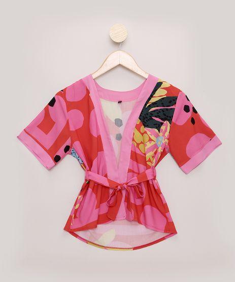 Kimono-Tal-Mae-Tal-Filha-Infantil-Feline-Estampado-Dots-Tropical-Manga-Curta-Vermelho-9965488-Vermelho_1