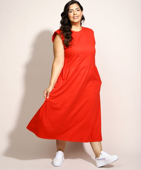 Vestido-Muscle-Dress-Feminino-Plus-Size-Mindset-Midi-com-Ombreira-Sem-Manga-Vermelho-9979217-Vermelho_1