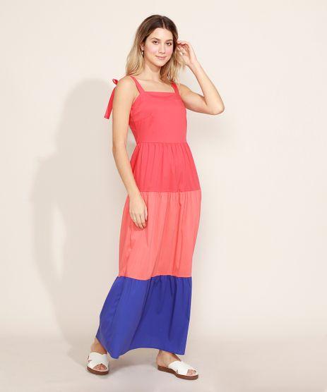 Vestido-Feminino-Longo-com-Recortes-Alcas-para-Amarrar-Multicor-9972555-Multicor_1