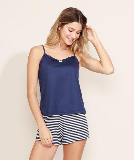 Pijama-Feminino-Regata-com-Renda-Alcas-Finas-Azul-Marinho-9968693-Azul_Marinho_1