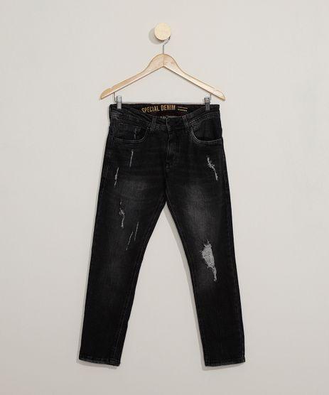 Calca-Jeans-Masculina-Slim-Cropped-Destroyed-Preta-9944004-Preto_1