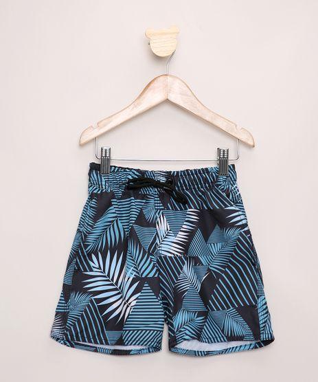 Short-Infantil-Estampado-Folhagem-Geometrico-com-Bolsos-Cos-com-Cordao-Azul-9962783-Azul_1