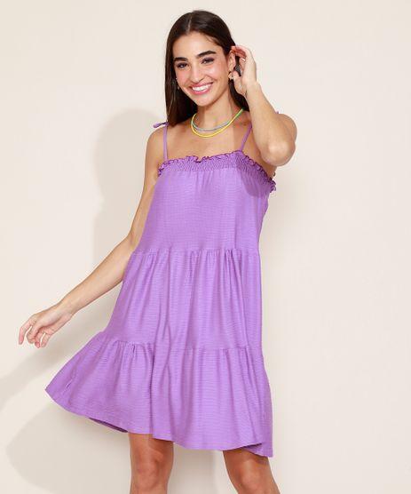 Vestido-Feminino-Curto-Texturizado-com-Recortes-Alca-Fina-com-Laco-Roxo-9978524-Roxo_1