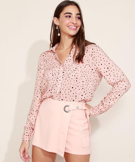 Camisa-Feminina-Estampada-de-Poa-Manga-Longa-Rosa-Claro-9947034-Rosa_Claro_1