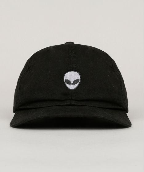 f2516f1364934 Bone-com-Bordado--Alien--Preto-8833188-Preto 1 ...