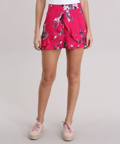Short-Estampado-Floral-com-Babados-Pink-8850423-Pink_1