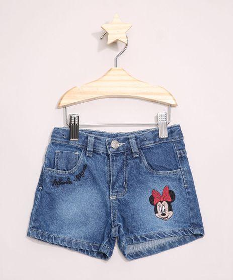 Short-Jeans-Infantil-com-Bordado-da-Minnie-Azul-Medio-9965309-Azul_Medio_1