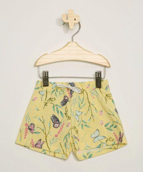 Short-Infantil-Estampado-Floral-com-Recorte-e-Cordao-Amarelo-9971442-Amarelo_1