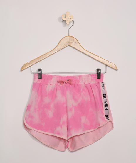 Short-Juvenil-Running-Estampado-Tie-Dye--GRL-PWR--Rosa-9966146-Rosa_1