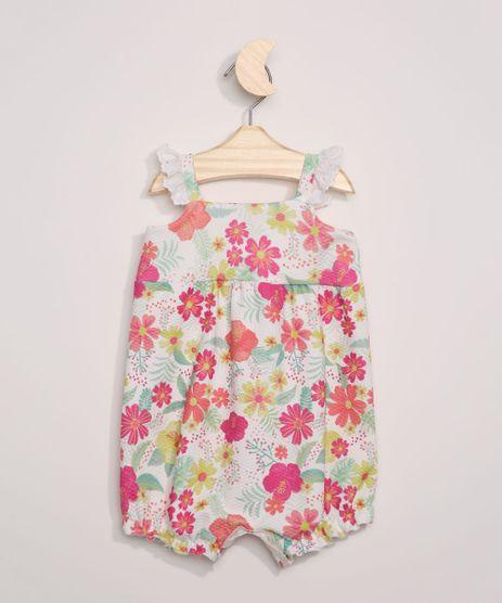 Macaquinho-Infantil-Estampado-Floral-Sem-Manga-com-Babado-Off-White-9972161-Off_White_1