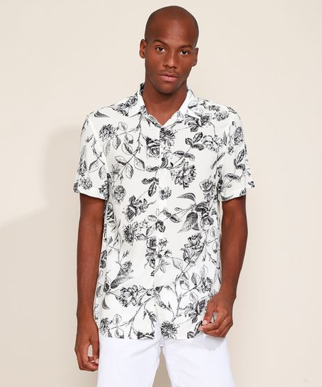 Camisa-Masculina-Relaxed-Estampada-de-Rosas-Manga-Curta-Off-White-9969319-Off_White_1