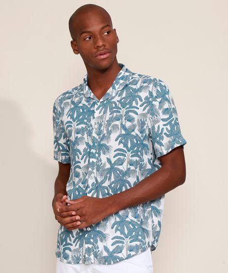 Camisa-Masculina-Tradicional-Estampada-de-Coqueiros-Manga-Curta-Off-White-9976938-Off_White_1