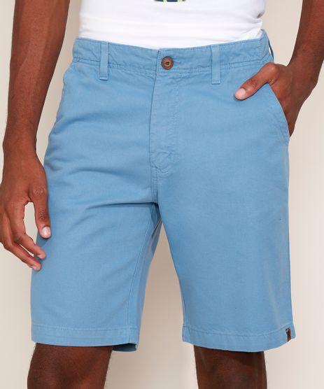 Bermuda-de-Sarja-Masculina-Reta-com-Bolsos-Azul-Claro-9635302-Azul_Claro_1