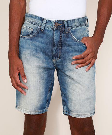 Bermuda-Jeans-Masculina-Slim-com-Rasgos-Azul-Medio-9966734-Azul_Medio_1