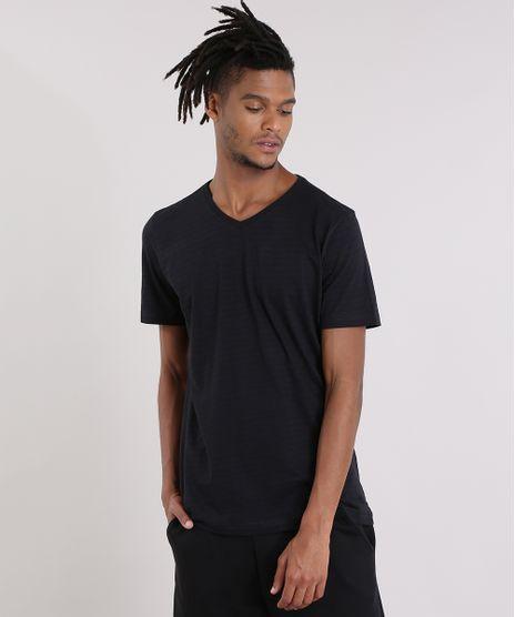 3d2191021611c Camiseta-Basica-Listrada-Preta-8540896-Preto 1