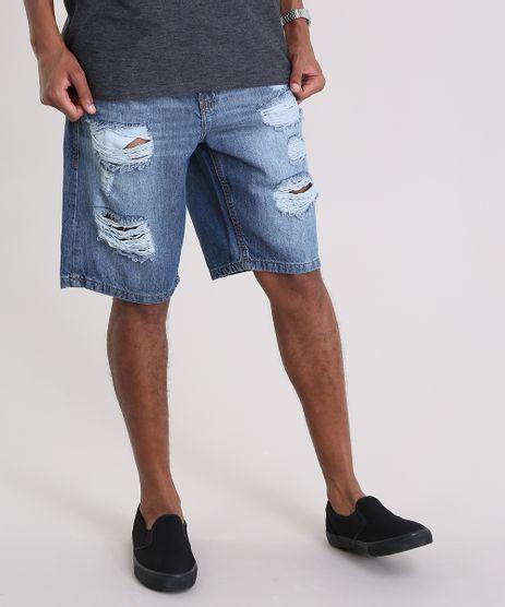 Bermuda-Jeans-Reta-Destroyed-Azul-Escuro-8954305-Azul_Escuro_1