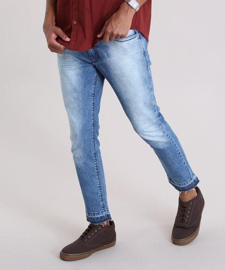 Calca-Jeans-Skinny-Cropped-em-Algodao---Sustentavel-Azul-Medio-8768284-Azul_Medio_1
