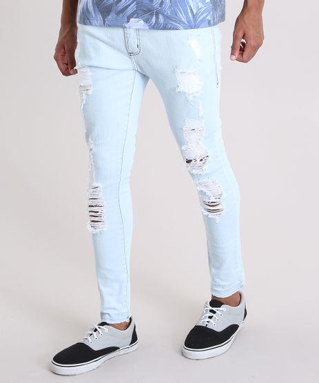 Calca-Jeans-Skinny-Cropped-Destroyed-em-Algodao---Sustentavel-Azul-Claro-8768059-Azul_Claro_1