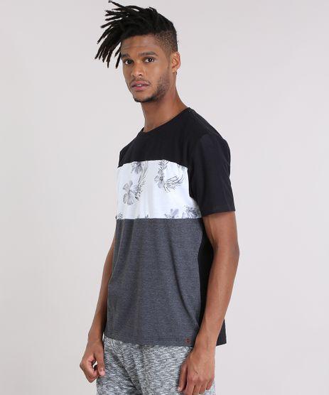 Camiseta-com-Recorte-Floral-Preta-8903211-Preto_1