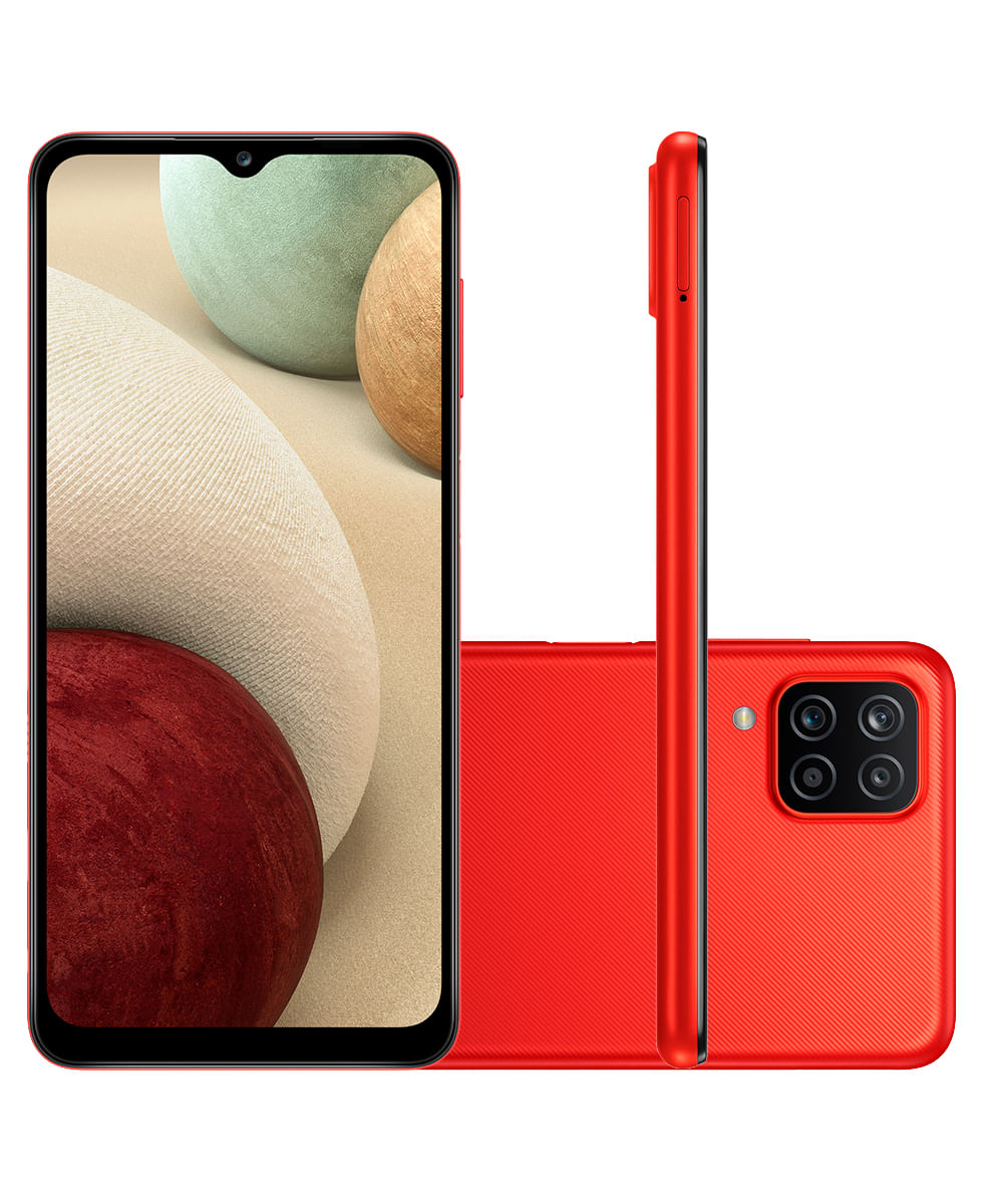 Smartphone Samsung A125M Galaxy A12 64GB Vermelho
